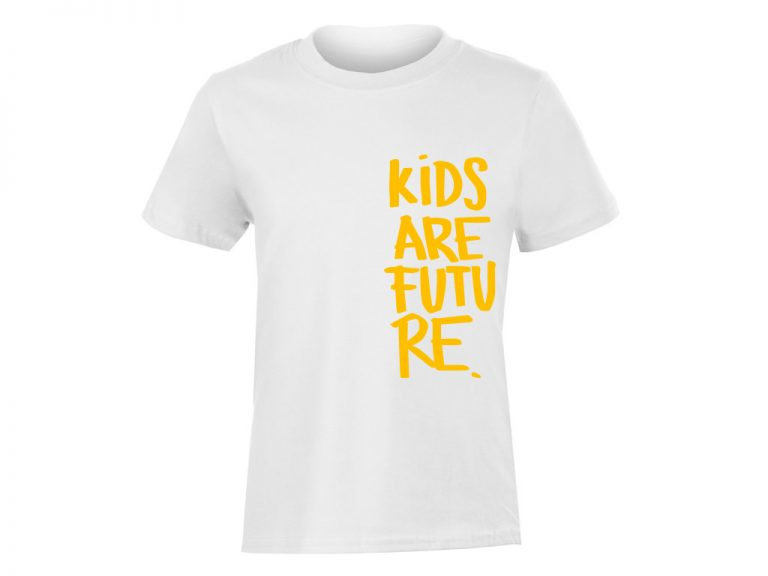 Kids are future_detske triko_bile