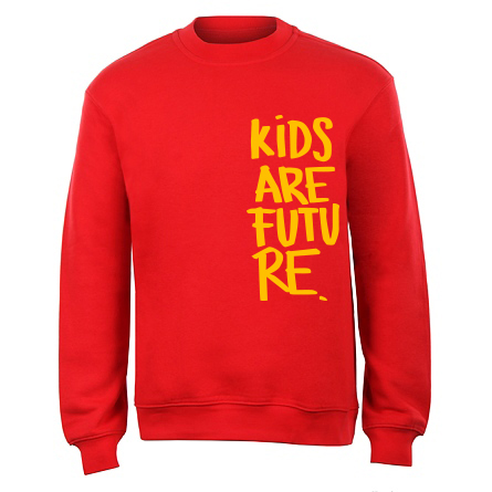 Kids are future_unisex mikina_cervena